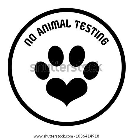 Vectorized Non Animal Testing Icons No Stock Vector Royalty Free