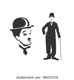 Vectorized portraits of Charlie Chaplin