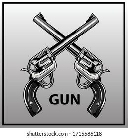 vectorof guns  illustration eps 10