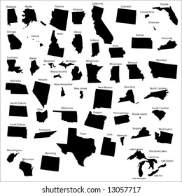 Vectors of all 50 States