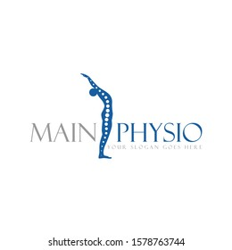 Vectors or designs of human shapes contain skeletal symbols or important points on the human body that can be used as a logo of physiotherapy
