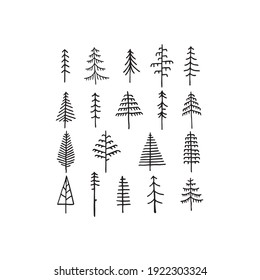 vectors of different types of trees