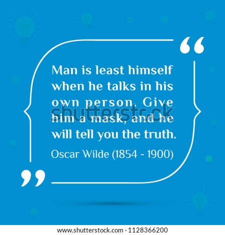 Vectors Quote Man Least Himself When Stock Vector Royalty Free