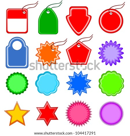 vectors templates price tag sign discounts stock vector royalty
