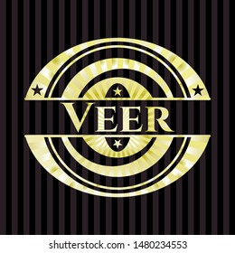Veer shiny badge. Vector Illustration. Detailed.