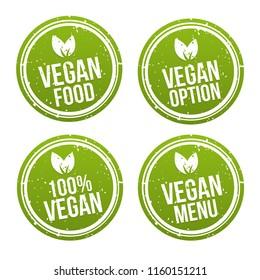 Vegan Buttons und Vegetarian Banner Set.