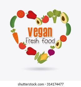 Vegan food design, vector illustration eps 10.