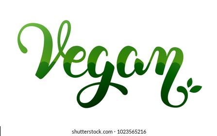 Vegan hand lettering design