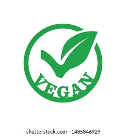 Vegan Icon in flat style isolated on white background. For your design, logo. Vector illustration.