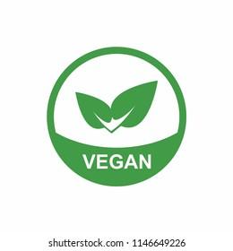 Vegan icon. Natural symbol. Vector
