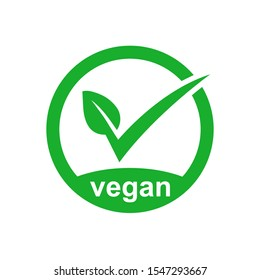 Vegan Icon Product Vector Image. EPS 10