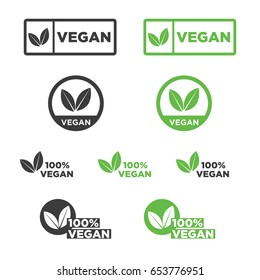 Vegan icon set.