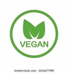 Vegan icon. Vector