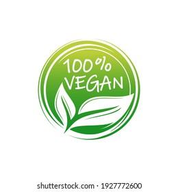 Vegan logo collection design template