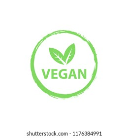 Vegan logo, organic bio logos or sign. Raw, healthy food badges, tags set for cafe, restaurants, products packaging etc. Vector vegan sticker icons templates set.