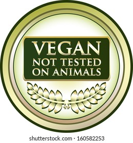Vegan - Not Tested On Animals Label