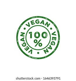vegan, organic green vector stamp design. Bio, eco approved. 100% natural. Isolated graphic element. Green seal and health approved stamp. transparent background
