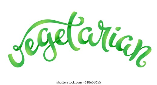 Vegan related lettering. Healthy food icons. Vector illustration.