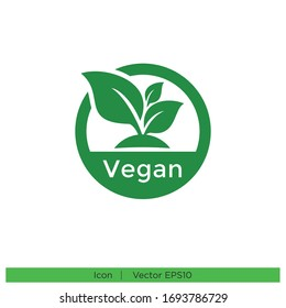 vegan stamp icon design element vector eps 10