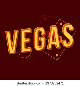 Vegas vintage 3d vector lettering. Retro bold font, typeface. Pop art stylized text. Old school style letters. 90s, 80s casino poster, banner, signboard typography design. Dark red color background