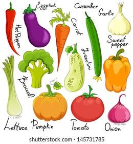 vegetable cartoon isolated on white background