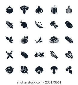 Vegetable icon on White Background Vector illustration