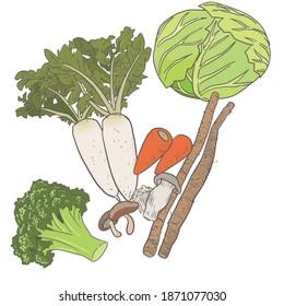 食物繊維の多い野菜セット