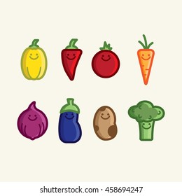 Vegetables 8 icons