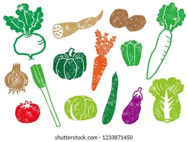 Vegetables illustration set