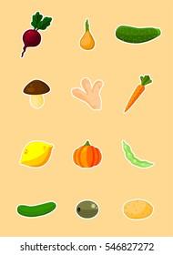 Vegetables - vector set