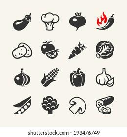 Vegetables web icon set