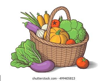 Basket Drawing Images Stock Photos Vectors Shutterstock