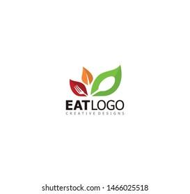 vegetarian food, leaf salad eat vegetables brand logo art icon vector illustration