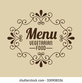 vegetarian food menu design, vector illustration eps10 graphic