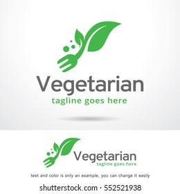 Vegetarian Logo Template Design Vector/ Food Logo/ Icon Design