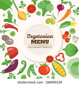 Vegetarian menu cover.