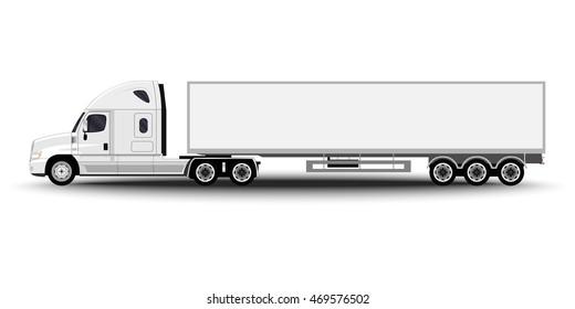 Tractor Trailer Truck Images, Stock Photos & Vectors