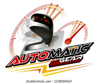 Vehicle gear stick: Automatic transmission vector.