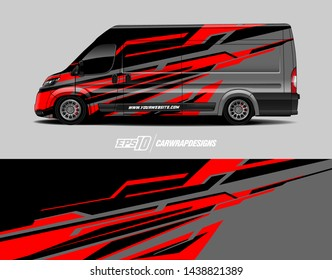 Vehicle graphic wrap design.  Abstract racing background for wrap vehicles, race cars, cargo vans, pickup trucks and livery.