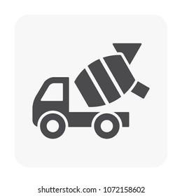 Vehicle icon on white.