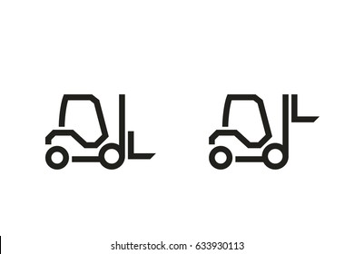 Vehicle Icons: Forklift Truck. Vector.
