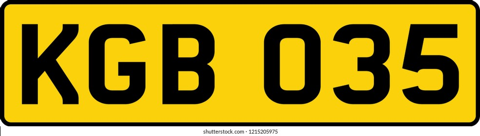 vehicle licence plates marking in England, United Kingdom, and Great Britain