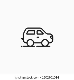 Vehicle line art icon for multiple business