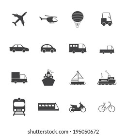 Vehicle and transport icons