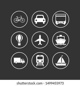 Vehicle transportation logistics  Logistics, icon. Vector illustration, flat design.
