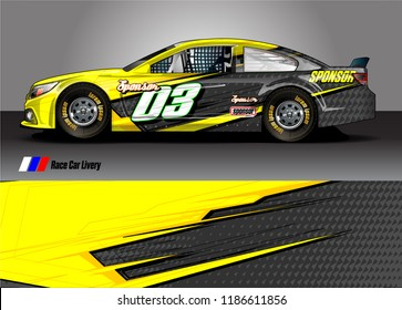 vehicle vinyl wrap design vector. abstract racing graphic stripe background kit for race car sticker, rally and truck livery,