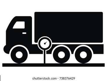 vehicle weighing, vector icon