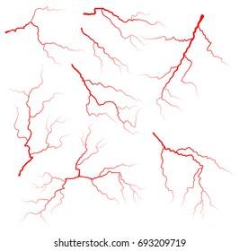 vein blood set vector symbol icon design. Beautiful illustration isolated on white background