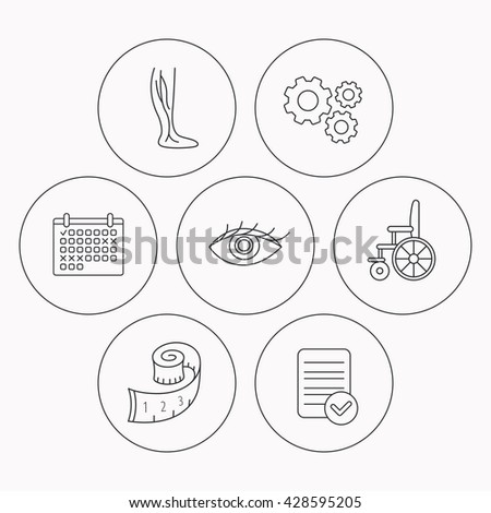 Vein Varicose Wheelchair Weight Loss Icons Stock Vector Royalty