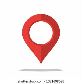 Vektor map pointer icon. GPS location symbol. Flat design style. Set